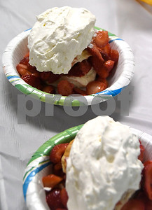 6/24/2017 Mike Orazzi | Staff Strawberry shortcakes during a fund raiser at  St. Peter Parish in New Britain Saturday.