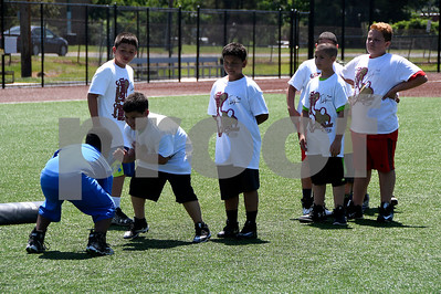 6/24/2017 Mike Orazzi | Staff The Tebucky Jones football camp held at Chesley Park in New Britain Saturday.
