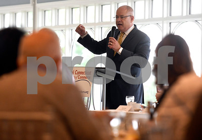 6/29/2017 Mike Orazzi | Staff Kurt Barwis, president and CEO of Bristol Hospital, during the Central Connecticut Chambers of Commerce State of the City & Towns Breakfast held at the Chippanee Country Club Thursday morning.