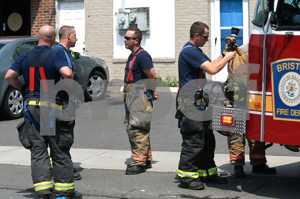 6/30/2017 Mike Orazzi | Staff The scene of a wire fire at Max Pizza & Restaurant on Stafford Avenue in Bristol Friday afternoon.