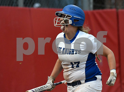 6/8/2017 Mike Orazzi   Staff Southington's Abigail Lamson (17) scores during a win over Cheshire in the Class LL final a Deluca Field in Stratford Thursday night.