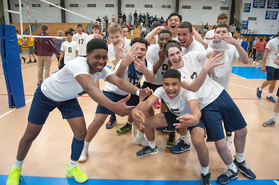 06/04/18  Wesley Bunnell | Staff  Newington volleyball defeated South Windsor 3-0 in a game played at Glastonbury High School on Monday evening.
