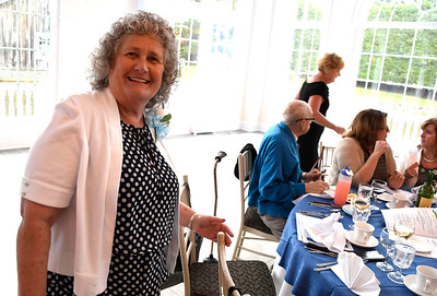 6/6/2018 Mike Orazzi | Staff Linda Lubrico, volunteer of the year, during the 129th Annual Bristol Chamber of Commerce Awards Dinner held at the Aqua Turf Club in Southington Wednesday night.