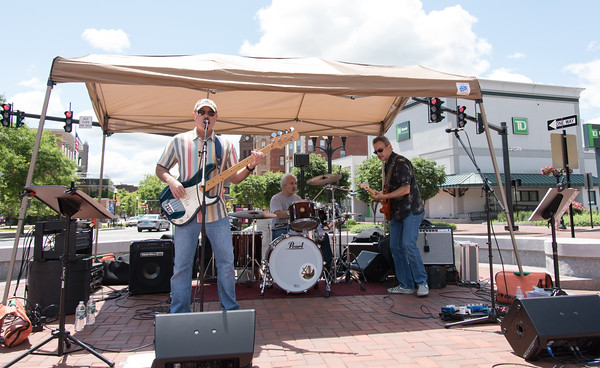 06/06/18 Wesley Bunnell | Staff New Britain Parks and Recreation kicked off their 2018 Summer Concert Series on Wednesday from 11:30am-1:30pm at Central Park with with band Rock Solid Alibi.