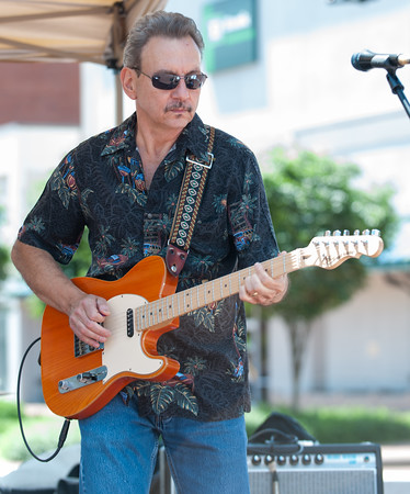 06/06/18 Wesley Bunnell | Staff Mike Armentano from the band Rock Solid Alibi performs on the first day of New Britain Parks and Recreations 2018 Summer Concert Series at Central Park on Wednesday. The concerts are held through June from 11:30am-1:30pm.