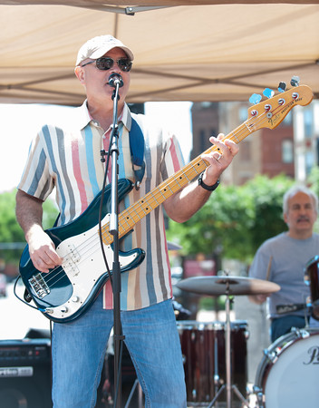 06/06/18 Wesley Bunnell | Staff Marty Moran from the band Rock Solid Alibi performs on the first day of New Britain Parks and Recreations 2018 Summer Concert Series at Central Park on Wednesday. The concerts are held through June from 11:30am-1:30pm.