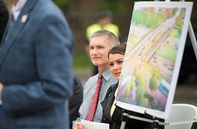06/01/18  Wesley Bunnell | Staff  Mayor Erin Stewart along with city and state officials as well as developers held a press conference on Friday afternoon at the CTFastrak Station to kick off the start of Beehive Bridge Project. Mayor Stewart sits next to Director of Public Works Mark Moriarty as Senior Vice President of Fuss & O'Neill Ted J. DeSantos speaks.