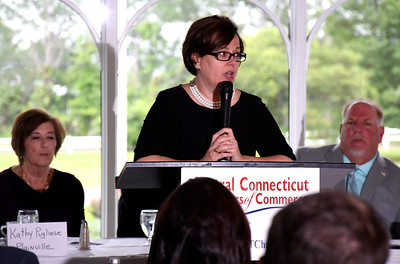 6/13/2018 MIke Orazzi | Staff Bristol Mayor Ellen Zoppo-Sassu, during the State of the City  & Towns Breakfast Wednesday morning.