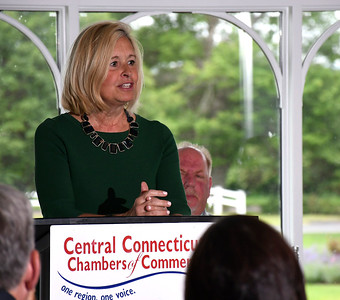 6/13/2018 MIke Orazzi | Staff Farmington's Rose Ponte during the State of the City  & Towns Breakfast Wednesday morning.