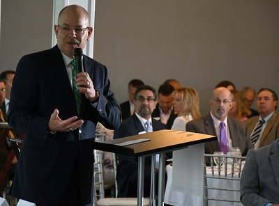 6/13/2018 MIke Orazzi | Staff Kurt A. Barwis, FACHE President and Chief Executive Officer of Bristol Hospital,  during the State of the City  & Towns Breakfast Wednesday morning.