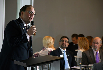 6/13/2018 MIke Orazzi | Staff Paul Lavoie, Chair Regional Legislative Committee, during the State of the City  & Towns Breakfast Wednesday morning.