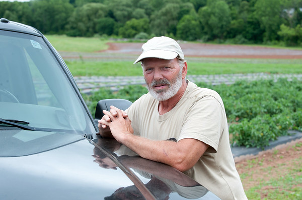 06/14/18 Wesley Bunnell | Staff Owner and farmer Steve Bengston from Cold Spring Brook Farm in Berlin stands by his SUV.