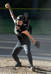 6/15/2018 Mike Orazzi | Staff The Black Panthers' Sam Burke (1) during city softball in Rockwell Park Friday evening.