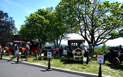6/16/2018 Mike Orazzi | Staff Automobiles on display during the Klingberg Vintage Motorcar Series Saturday in New Britain.