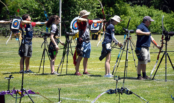 6/16/2018 Mike Orazzi | Staff The Nutmeg State Games archery Saturday in New Britain.
