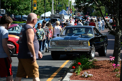 6/16/2018 Mike Orazzi | Staff A 1978 Chevrolet El Camino rolls into The Ninth Annual Bill Englert Memorial Car Show, sponsored by TEAM Bristol, held on North Main Street Saturday evening in Bristol.