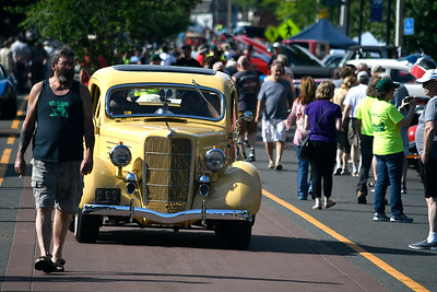 6/16/2018 Mike Orazzi | Staff Classic cars during the Ninth Annual Bill Englert Memorial Car Show, sponsored by TEAM Bristol, held on North Main Street Saturday evening in Bristol.