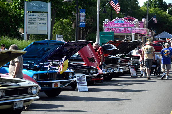6/16/2018 Mike Orazzi | Staff The Ninth Annual Bill Englert Memorial Car Show, sponsored by TEAM Bristol, held on North Main Street Saturday evening in Bristol.