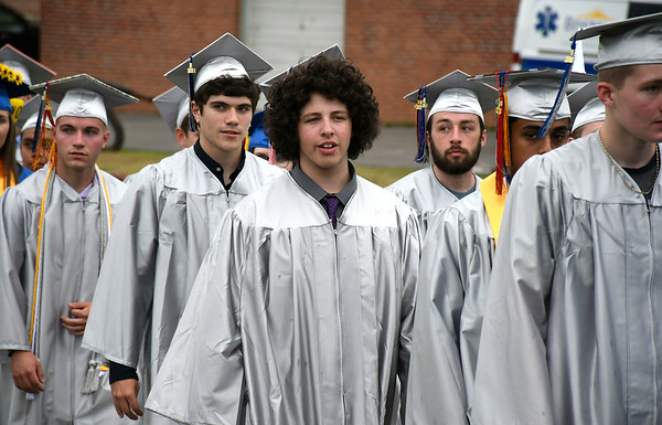 6/20/2018 Mike Orazzi | Staff The Bristol Eastern High School graduation Wednesday night.