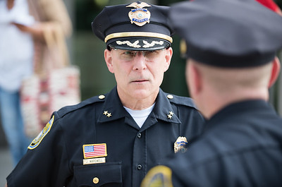06/20/18  Wesley Bunnell | Staff  New Britain Police Chief James Wardwell stands outside of New Britain Superior Court on Wednesday afternoon after watching defendant Robert Honsch being charged in the 1995 murder of his daughter.