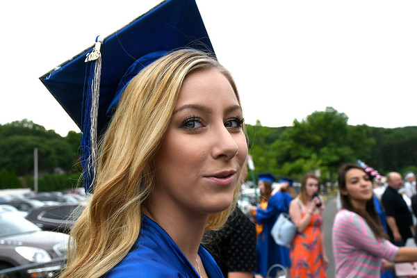 6/20/2018 Mike Orazzi | Staff Chloe Bourgoin at the Bristol Eastern High School graduation Wednesday night.