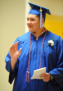 6/21/2018 Mike Orazzi | Staff Lorenzo Cavallo during Southington High School's graduation Thursday evening.