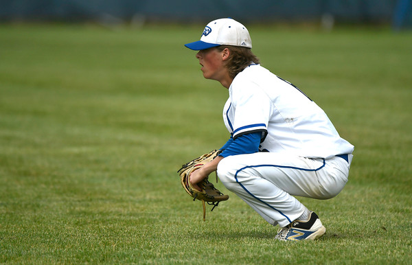 6/2/2018 Mike Orazzi   Staff St. Paul's Sean Crean (6) during the Class S Quarterfinal baseball game with Notre Dame-Fairfield in Bristol Saturday.