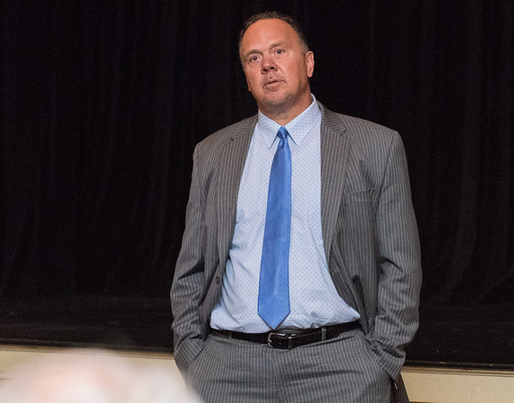 06/21/18 Wesley Bunnell | Staff CCSU Associate Athletic Director and finalist for head Athletic Director Steve Villanti spoke and answered questions from the audience on Friday afternoon at Torp Theater in Davidson Hall.