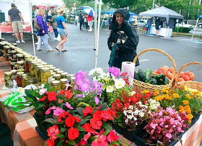 6/23/2018 Mike Orazzi | Staff Christine George while shopping at the Bristol Farmers Market Saturday in downtown Bristol.