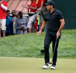 6/23/2018 Mike Orazzi | Staff Jason Day during the 2018 Travelers Championship at TCP River Highlands Saturday in Cromwell.