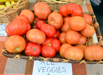 6/23/2018 Mike Orazzi | Staff Items from the Twin Pines Farm at the Bristol Farmers Market Saturday in downtown Bristol.