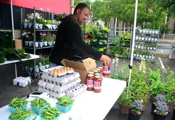 6/23/2018 Mike Orazzi   Staff Grescyk Farms' Henry Gresczyk at the Bristol Farmers Market Saturday in downtown Bristol.
