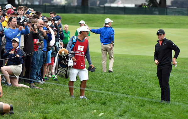 6/23/2018 Mike Orazzi   Staff Rory McIlroy during the 2018 Travelers Championship at TCP River Highlands Saturday in Cromwell.