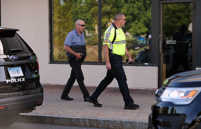 6/26/2018 Mike Orazzi | Staff Bristol Police on scene at the Webster Bank on Farmington Avenue in Bristol Plaza Tuesday afternoon.