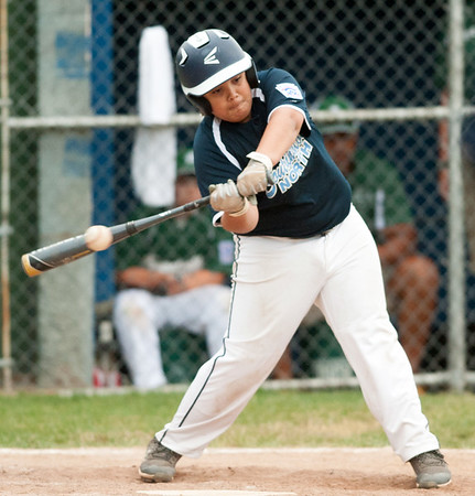 06/27/18 Wesley Bunnell   Staff Forestville Little League defeated Southington North 2-0 on Wednesday afternoon in Southington. David Collado (24) bats in the sixth inning.