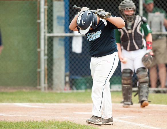 06/27/18 Wesley Bunnell | Staff Forestville Little League defeated Southington North 2-0 on Wednesday afternoon in Southington. David Collado (24) walks off after striking out in the sixth inning.