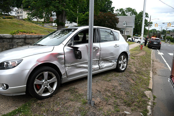 6/27/2018 Mike Orazzi   Staff The scene of a two car crash at the intersection of West and Haviland Streets in Bristol Wednesday. Only minor injuries were reported.