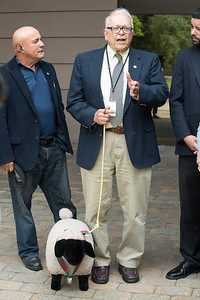06/07/18  Wesley Bunnell | Staff  The Republican Caucus held a conference on Thursday afternoon outside of city hall to express their frustration over the lack of an adopted budget for the upcoming fiscal year. Alderman Don Naples explains to the media his perception of the Democratic Caucus as sheep and why he brought a stuffed sheep to the conference.