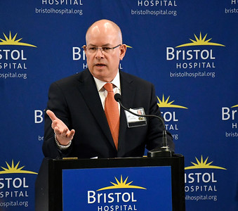 6/8/2018 Mike Orazzi | Staff Kurt A. Barwis, FACHE President and Chief Executive Officer of Bristol Hospital during the Hospitals Against Violence Day held at Bristol Hospital Friday morning.