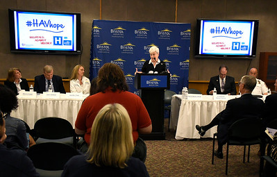 6/8/2018 Mike Orazzi | Staff Lt. Governor Nancy Wyman during the Hospitals Against Violence Day held at Bristol Hospital Friday morning.