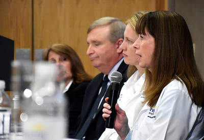 6/8/2018 Mike Orazzi | Staff Bristol Hospital'sMichelle Miranda, MSN, RN, NE-BC, RN-BC—Director, Inpatient Services during the Hospitals Against Violence Day held at Bristol Hospital Friday morning.