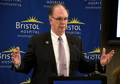 6/8/2018 Mike Orazzi | Staff American Hospital Association's John Barry during the Hospitals Against Violence Day held at Bristol Hospital Friday morning.