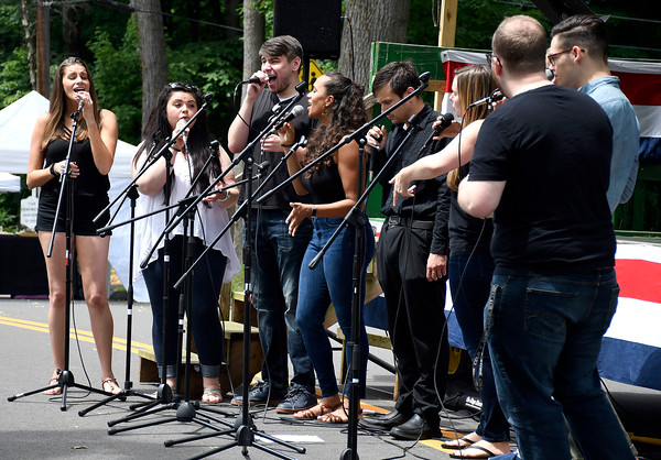 6/9/2018 Mike Orazzi | Staff Members of the a cappella group Connect perform during the Festival on the Hill held at the Kensington Congregational Church Percival Avenue Saturday in Kensington.