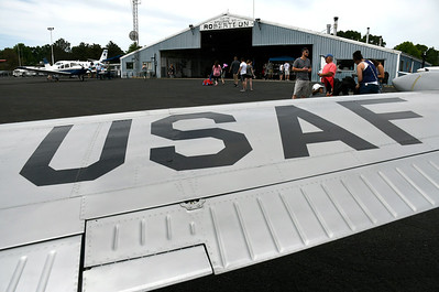 6/9/2018 Mike Orazzi | Staff A U.S. Air Force plane on display during the 7th Annual Fly-In Car Show held at Robertson Airport in Plainville Saturday.