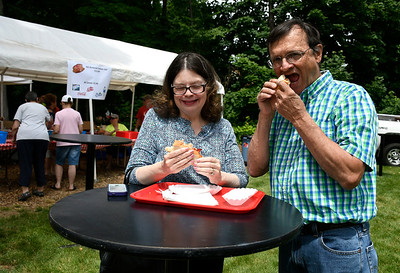 6/9/2018 Mike Orazzi | Staff Marie and Chris Maier have lobster rolls during the Festival on the Hill held at the Kensington Congregational Church Percival Avenue Saturday in Kensington.
