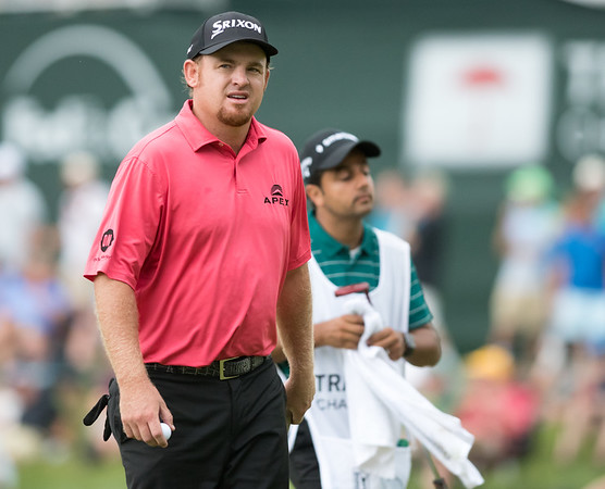 06/24/18 Wesley Bunnell   Staff The final day of The Travelers Championship at TPC River Highlands in Cromwell on Sunday June 24. Beau Hossler walks off of the 17th green.