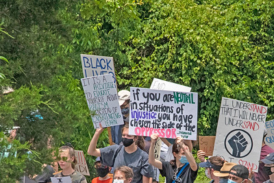Signs seen during the Community Solidarity March (#BlackLivesMatter). [BIll Giduz photo]