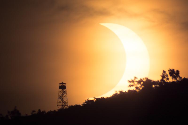 Waxing Crescent Sun