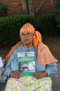 """Author Bee Jay Caldwell had copies of her book  """"Historic Pottstown Families."""""""