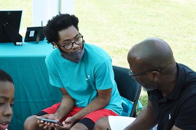 Illustrator Gordon C. Jones took the time to talk with an Atrium Health volunteer.